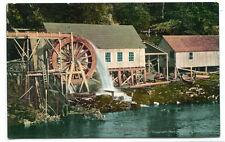 Water Wheel Ketchikan Creek Alaska 1910c postcard