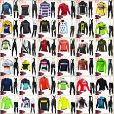 Men Long Sleeve Team Cycling Jersey Set Bicycle Tops Bib Pants Suit Bike Uniform