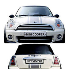 New - Mini Cooper Bonnet & Boot Gloss Black Viper Stripes Set - High Grade Vinyl