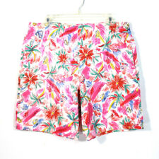 Vintage 80's BREAKERS Men's Tropical All Over Print Surf Swim Shorts Size 36