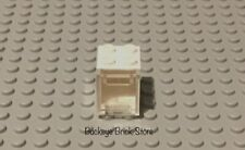 LEGO 2x2 White Container Box 2x2x2 With Clear Pulldown Door Doll House