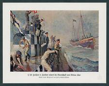 Schwormstädt U-Boot U 28 v. Forstner Feindfahrt Nordsee Reichskriegflagge 1915