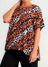 TS TAKING SHAPE plus size L / 22 Painted Leopard Top day/night animal print