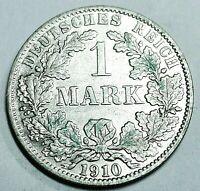 Deutsches Kaiserreich 1 Mark Silber 1910 A - Reichsadler - st / unz