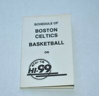 1986-87 NBA Pocket Schedule Boston Celtics Basketball