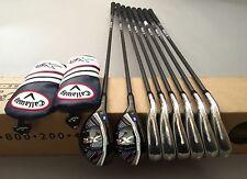 LH New Callaway XR Combo Irons 3H 4H 5-PW Project X 5.5 Reg Flex Graphite Golf