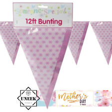 MOTHERS DAY BUNTING 12FT Triangular House Banner Pink Party Decorations Flags