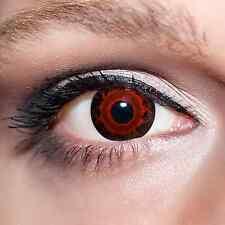 Rote Kontaktlinsen farbige Dämon rot schwarze Motivlinsen Red Demon Eyes;K538