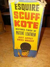 Vintage 1950's Full bottle Esquire Scuff Kote Black Shoe Polish Bottle with Box