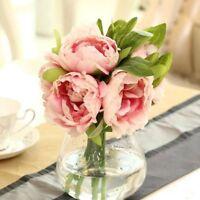 Bridal Bridesmaid 1 Bouquet Home Wedding Decor Silk Flowers Peony Flower