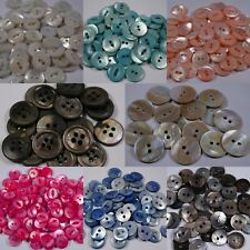 real shell mother of pearl buttons | 2 4 hole 11mm - 20mm fisheye round
