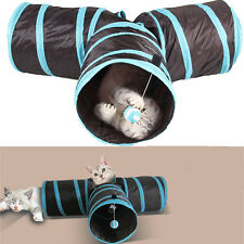 3 Port Fold-able Pet Tunnel Roll Puppy Cat Sleeping Tents Bed With Ball