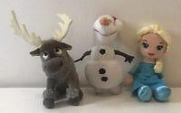 """Frozen Plush Bundle Posh Paws & TY Olaf Elsa Sven 9"""""""