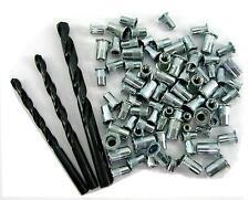 Rivnut Rivet nut Nutsert pack 20xM4 30xM5 30xM6 +Drills selection pack insert