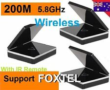 New 5.8GHz* Wireless AV Sender Transmitter IR remote ex 2 Receivers For FOXTEL
