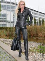 Lederhose Leder Hose Schwarz Durchgehender Zipper Maßanfertigung
