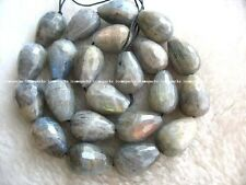 Amazing! labradorite drop faceted 13*18mm beads