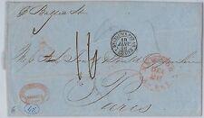 UNITED  STATES -  POSTAL HISTORY: TRANSATLANTIC MAIL on board BALTIC ship 1856