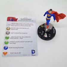 Heroclix World's Finest set Superman #049 Super Rare figure w/card!