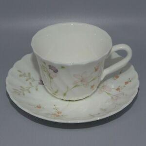 Wedgwood Bone China England Campion pattern coffee cup saucer duo demi tasse