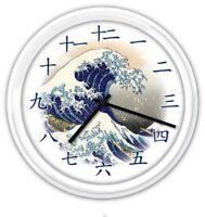 Great Wave off Kanagawa Wall Clock - Japanese Kanji Numerals GREAT GIFT