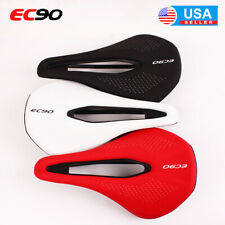 EC90 Gel Leather Seat Saddle Seat Unisex Adult MTB Bike Breathable Black/Red US