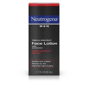Neutrogena Men Triple Protect Face Lotion With Sunscreen Spf 20 1.7 Fl. OZ.