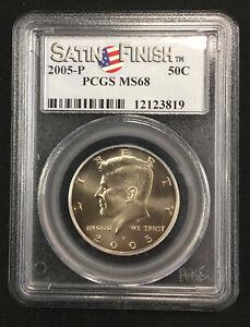 2005-P Kennedy Half Dollar PCGS MS68 SATIN FINISH