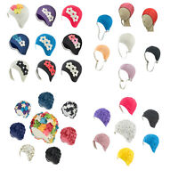 Latex Swim Cap  Floral Designed - Great For Long Hair - 18 Colors - 4 Designs
