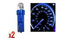Speedo bombillas 286 2x 12v 1.2 W T5 5mm Super brillante LED azul Wedge coche Dashboard Nw