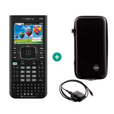 Ti nspire CX CAS Calculatrice graphique Ordinateur + sac de protection et câble de charge