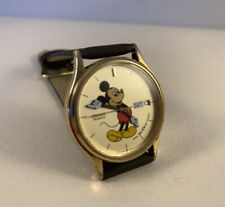 More details for vintage mickey mouse walt disney seiko quartz 1980's analog watch with date/day