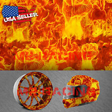 "19""x38"" Hydrographic Film Hydro Dipping Water Transfer Fist True Fire Flame #18"