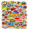 50 Cartoon Comics Hero Held Stickerbomb Aufkleber Sticker Mix Decals Phone