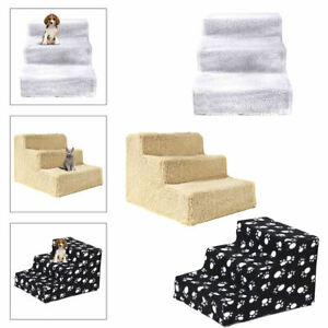 Pet Stairs 3 Steps Soft Portable Cat Dog Ladder Animal Ramp Small Climbing