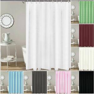 Heavy Duty Fabric Waffle Curtains Waterproof Bathroom Shower Curtain With Hooks