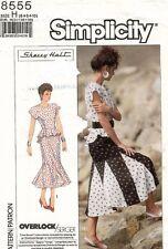 1980's VTG Simplicity Misses' Dress Pattern 8555 Size 6-10 UNCUT
