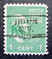 Sc # 804 ~ 1 cent Washington Issue, Precancel, ADELANTO CALIF. L2