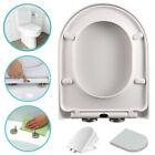 WC-Sitz Klodeckel Toilettendeckel Abnehmbar Duroplast mit Absenkautomatik D-Form