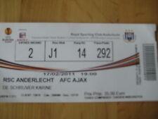 Ticket: Anderlecht - Ajax Amsterdam UEFA (17-2-11)