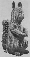 1940's  SQUIRREL / 8ply or DK - COPY Toy knitting pattern