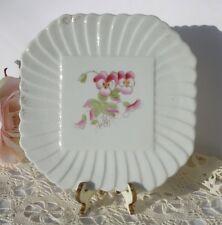 Vintage Carlsbad BFHS Porcelain Trivet Pink Pansies - Austria