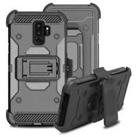 Galaxy S9 Plus Shockproof Rugged Hybrid Armor Case Cover Stand Holster Belt Clip