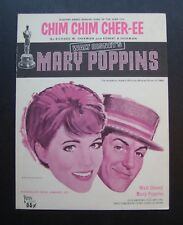 "Chim Chim Cher-Ee from ""Mary Poppins"" sheet music Julie Andrews Dick Van Dyke"