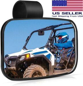 "UTV Rear View Center Mirror Fits 1.5"" - 2"" Bar - For Polaris, RZR, Rhino Honda"