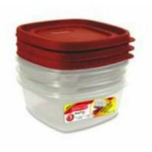 Rubbermaid 1777165 Food Storage Container 6 Piece Pack of 4