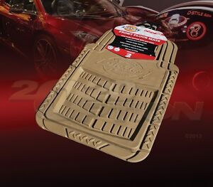 DICKIES ALL WEATHER WATER PROOF 2PCS FRONT FLOOR MATS TAN FOR LAND ROVER GEO