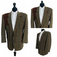 Mens Jacket Blazer Chest 42 Short Brown Tweed Style Wool  OR468