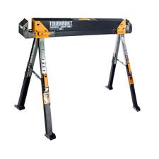 Adjustable Height Width Steel Sawhorse Jobsite Table Capacity Durable Steel