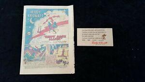 Reddy Kilowatt Comic (Reddy Magic) Story Of Electricity + Reddy Pin on card 1946